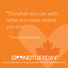 GivingTuesday - Quotes - Theodore Roosevelt