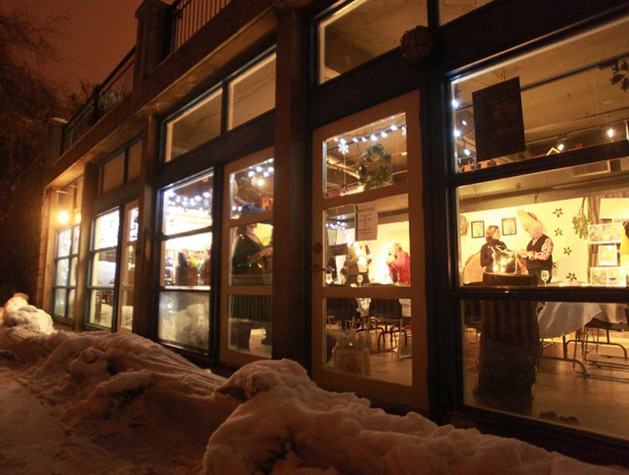 A cosy venue for a cold winter night