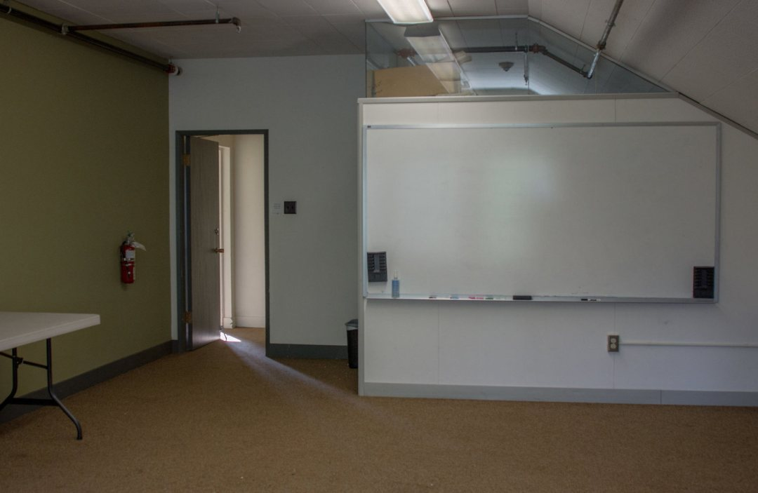 a large whiteboard