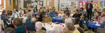 Rector Search Parish Meeting - Group listening to Marie