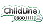 Logo and link to ChildLine