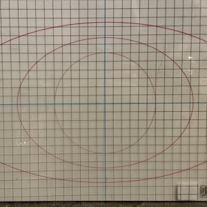 IOD Grid and Circle Thin Mount Acetate Sheet (12×18)
