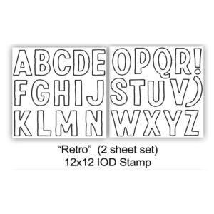 Retro Stamp (2 Sheets)