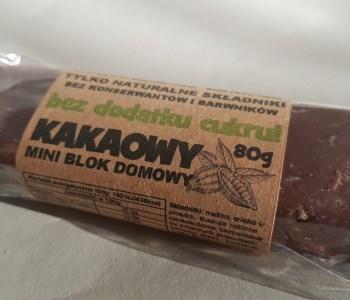 blok kakaowy bez cukru