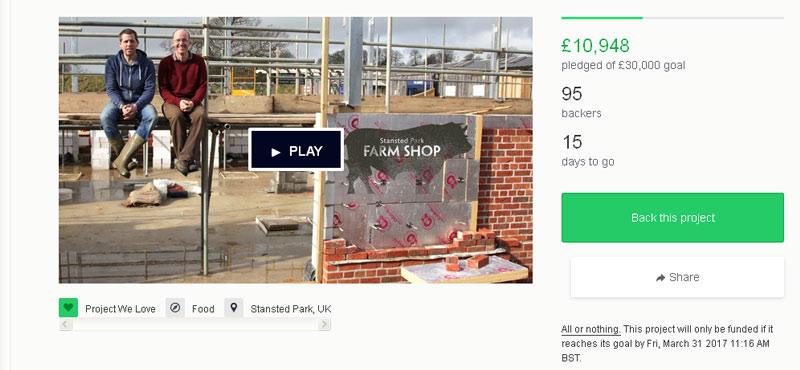 crowdfunding on kickstarter