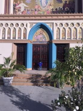 A splash of color enhances the entrance of the Church!