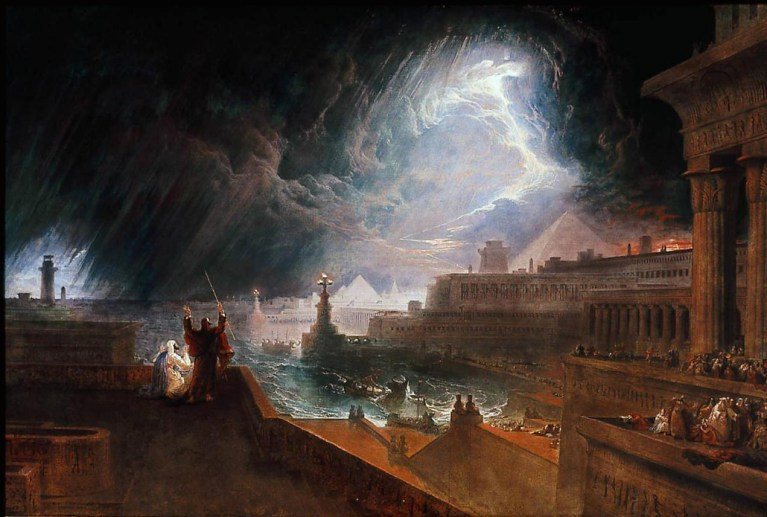 "Painting: John Martin's ""The Seventh Plague of Egypt"""