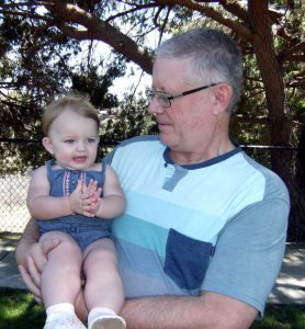 Stan Vaughan w granddaughter 2