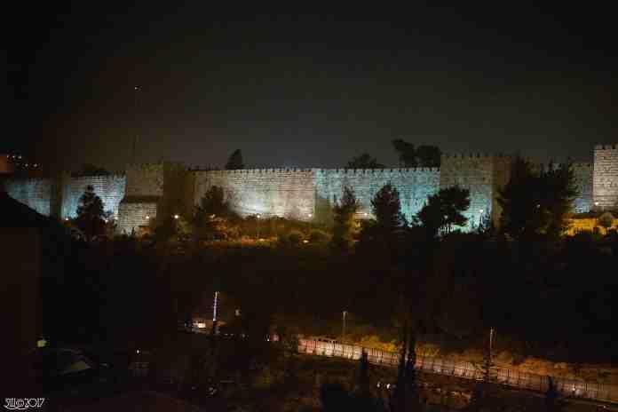 City wall by night, Jerusalem1