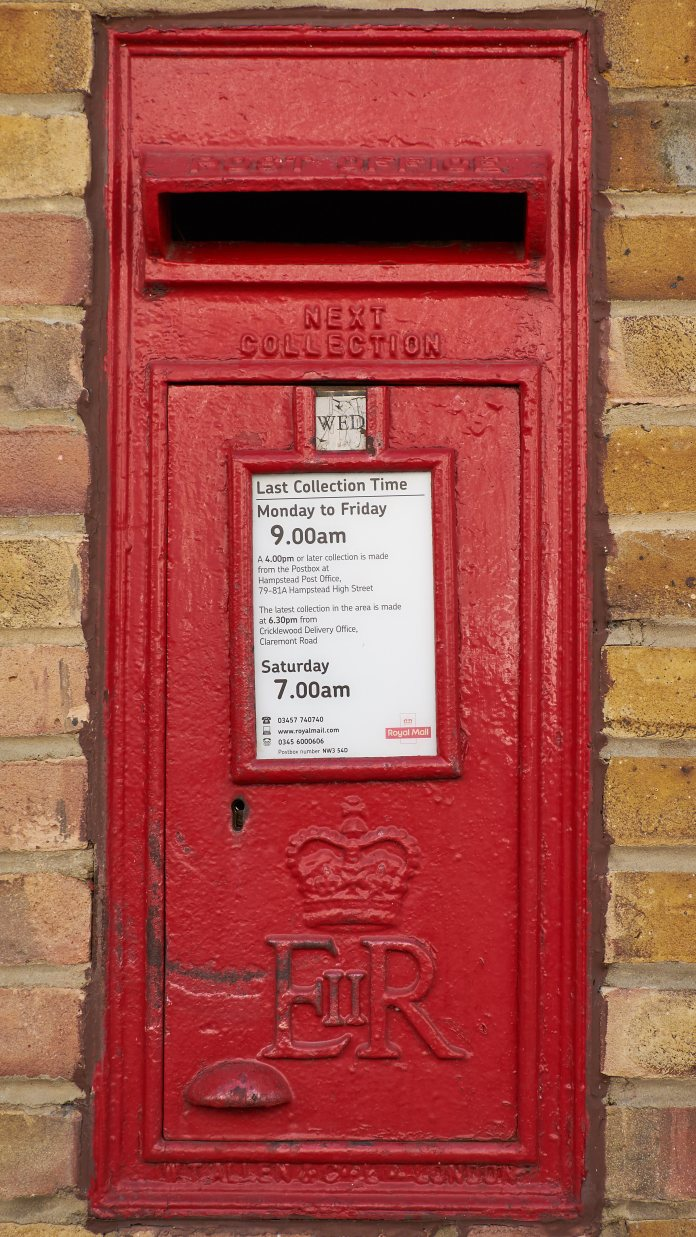 Wall postbox, Hampstead