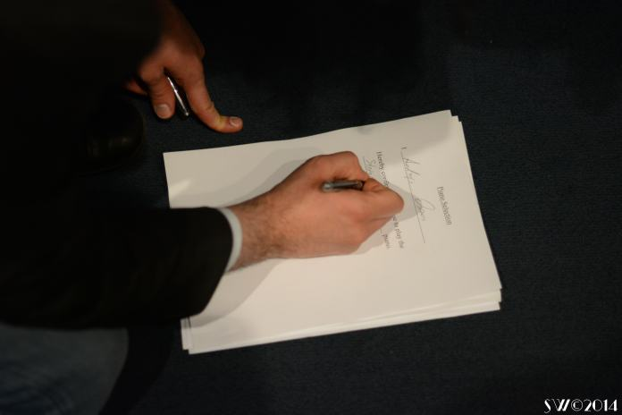 Signing for my piano