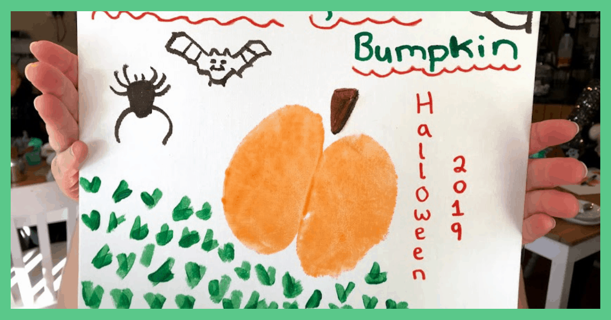A Halloween bumpkin - Halloween activities for babies.