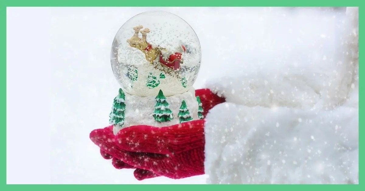 Make your own snow globe - a winter scene