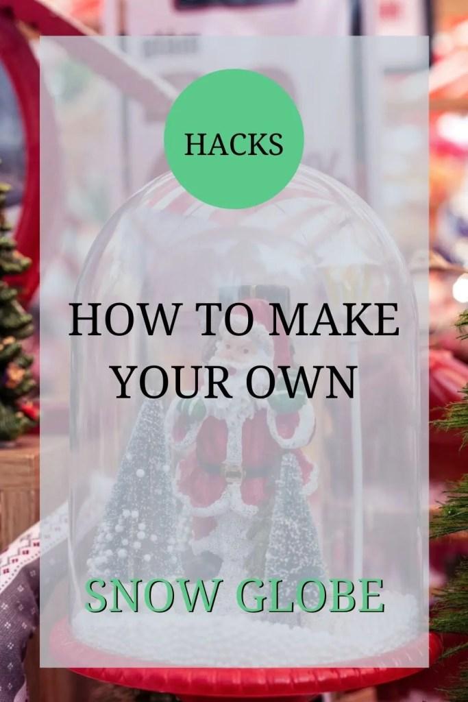 how to make your own snow globe _ snow scene _ diy jar snow globe