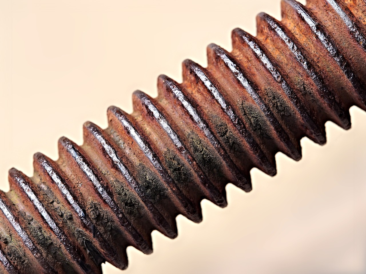 A threaded bolt