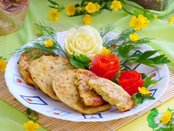 Сырные кабачковые оладьи