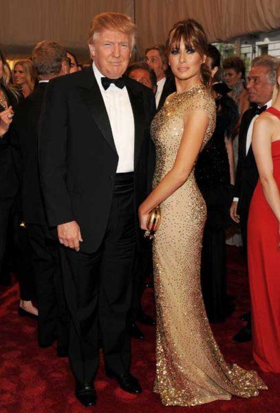 Дональд Трамп с женой Меланьей