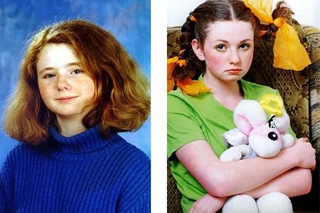 Лена Катина в детстве. Фото