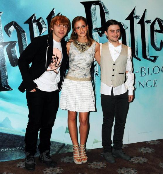Эмма уотсон с коллегами - актерами из фильма Гарри Поттер