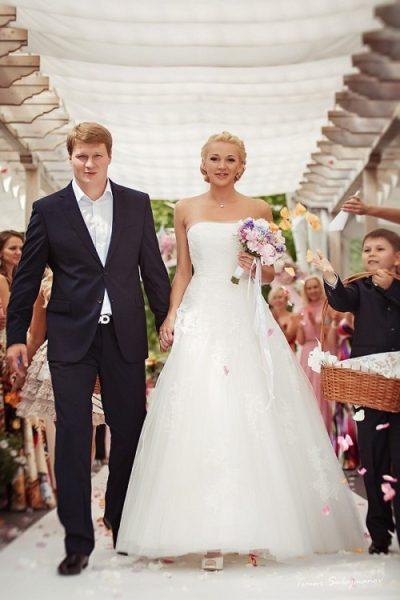 Александр Поветкин с женой Евгенией. Свадьба