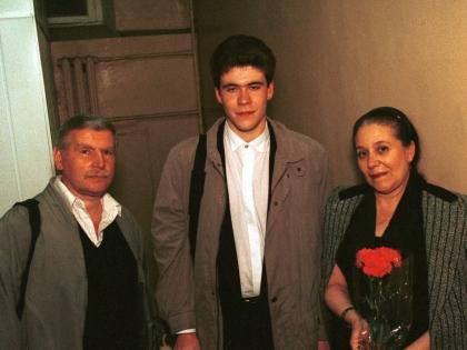 Денис Мацуев с родителями