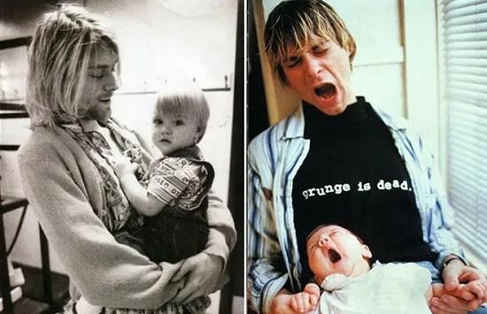 Курт Кобейн с дочерью. Фото