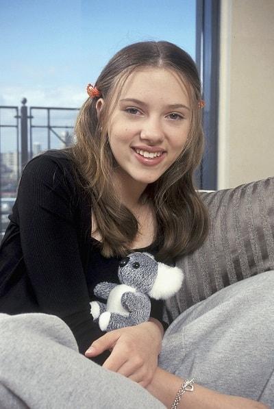 Скарлетт Йоханссон в юности. Фото