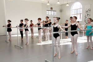 Students practice at the Northwest Dance Project.