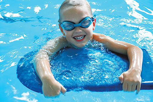 A youngster enjoys time in the swimming pool at the Northeast Community Center. (Northeast Community Center)