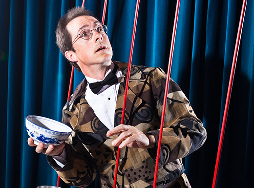 Rhys Thomas brings Juggle Mania – with improbable juggling, comedy and acrobatics, including Chinese yo-yos, cowboy lassos, Indian clubs and Egyptian juggling balls – to the Kenton Library on August 3. (Rhys Thomas)