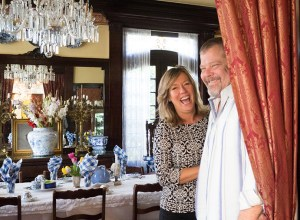 Myra Plant, left, general manager, and Lanning Blanks, owner, of Portland's White House located on Northeast 22nd Avenue, relax after serving breakfast to guests visiting the eight-room bed-and-breakfast that Blanks has owned for 20 years.