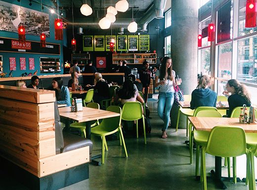 Laughing Planet Cafe's Goose Hollow Store should have a similar look and feel to the cafe's plans for the former I Heart Retro Space. (Laughing Planet Cafe)