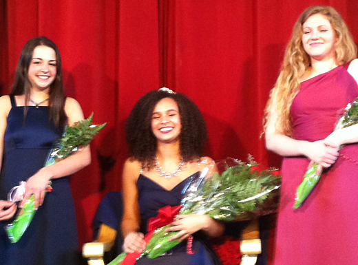 Olivia Wolfe, center, has been selected as Grant High School's representative to the 2016 Rose Festival Court. (Ted Perkins)