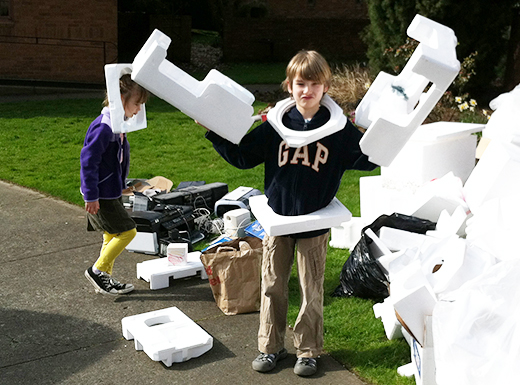In addition to electronics and appliances, the Madeleine Parish Earth Day E-Waste Recycling Event will accept block Styrofoam, household batteries and household fluorescent lights. (John Robinson)