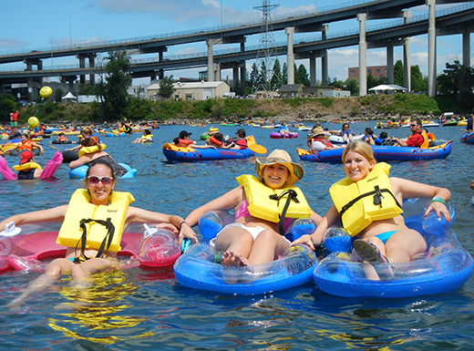 The Big Float, an annual parade, river float and beach party on the Willamette will be held this year on Sunday, July 10. (Human Access Project)