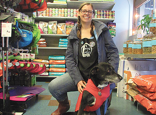 Nancy Fedelem and Parker have moved their Kenton pet supply store, Fang and Feather, from 1926 N. Kilpatrick St. to a new, larger home about 12 blocks away at 3131 N. Lombard St. (Jane Perkins)
