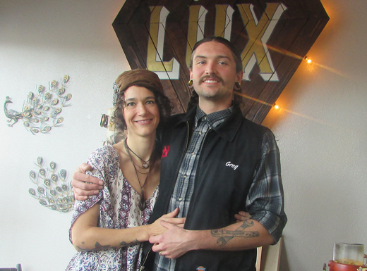 Mary Kate and Greg Bassindale are sixth-generation Portlanders who own both the TigerLily Tattoo shop on Sandy Boulevard and, now, Hollywood Lux Boutique next door. (Jane Perkins)