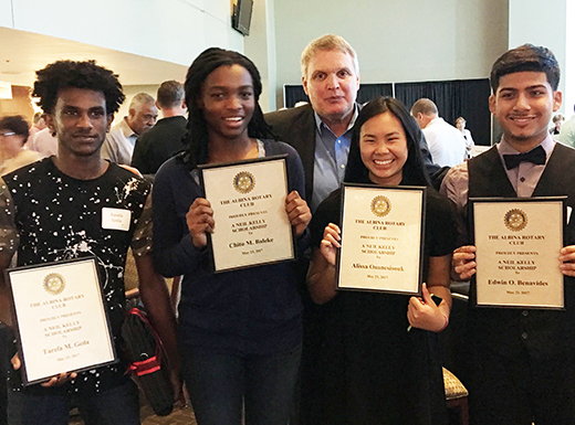 Albina Rotary names four neighborhood Neil Kelly Scholars