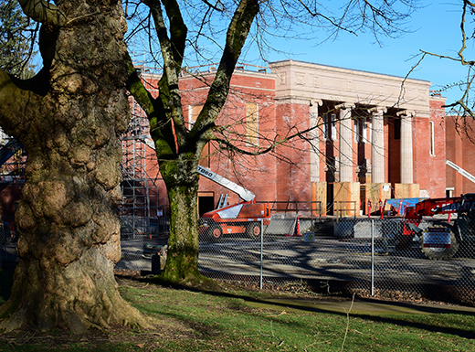 'Old gym' facade emerges during Grant upgrade project