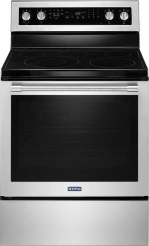 6.4 Cu. Ft. Self-Cleaning Freestanding Electric Convection Range Fingerprint Resistant Stainless Steel