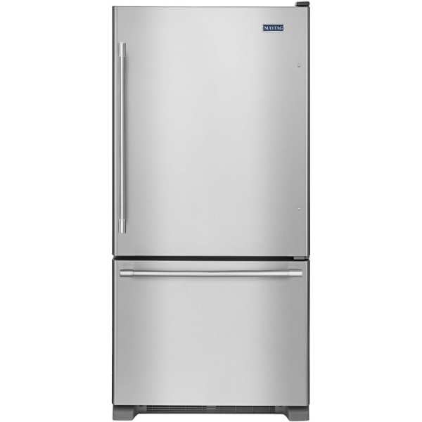 18.6 Cu. Ft. Bottom-Freezer Refrigerator Stainless steel