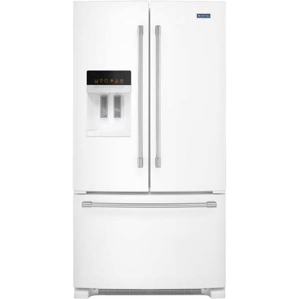 24.7 Cu. Ft. French Door Refrigerator White on white