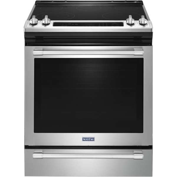 6.4 Cu. Ft. Self-Cleaning Slide-In electric Convection Range Fingerprint Resistant Stainless Steel