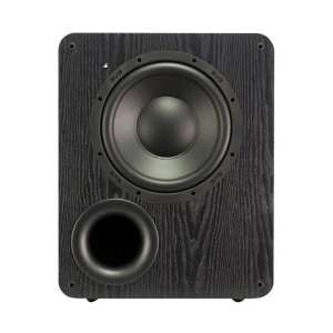 "10"" 300W Powered Subwoofer Premium black ash"