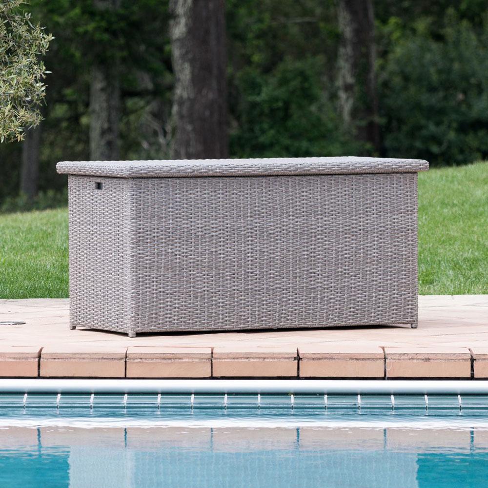sirio grey color patio storage box