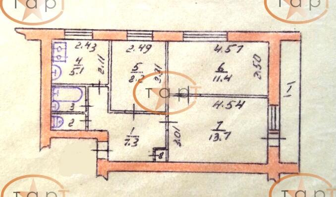 Планировка квартиры Чернигов