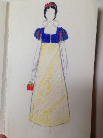 Snow White - Her apple reticule is a play on the ever-popular pineapple reticule. I'm so clever.