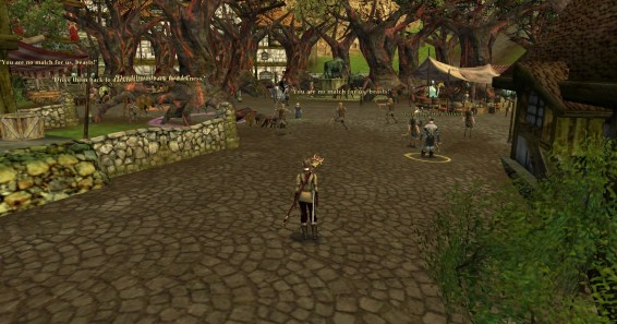 the centre of bree was packed solid with huorns... and catapults :D