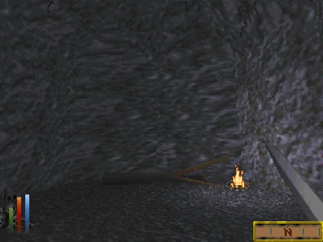 Daggerfall: After a shipwreck, you find yourself in a cave