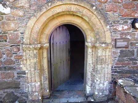 entrance to Michael Chapel Iona abbey